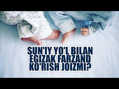 Sun'iy Yo'l Bilan Egizak Farzand Ko'rish Joizmi? | Shayx Sodiq Samarqandiy