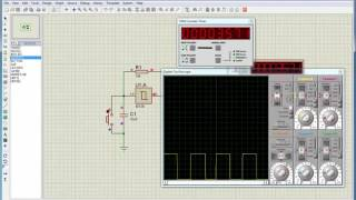 PROTEUS УРОК 12 мультивибратор на логике