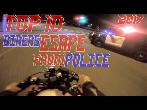 TOP 10 Cops VS Bikers ESCAPE Police Chase Motorcycles GETAWAY Running From Cops On Motorcycle Videos
