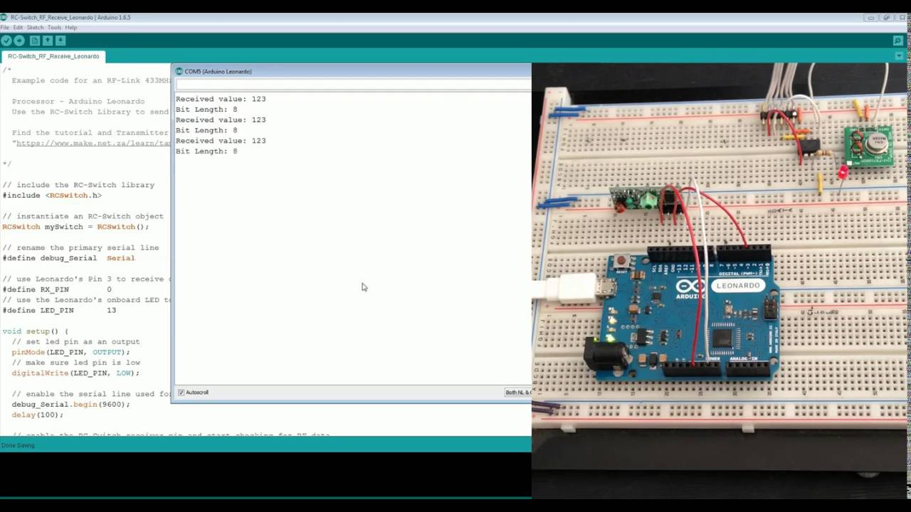 433mhz Rf Link Modules Rc Switch Test Youtube Arduino Transmitter Circuit