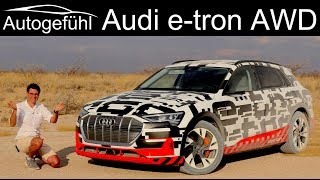 Audi e-tron DRIVING REVIEW electric quattro AWD test e tron  - Autogefühl