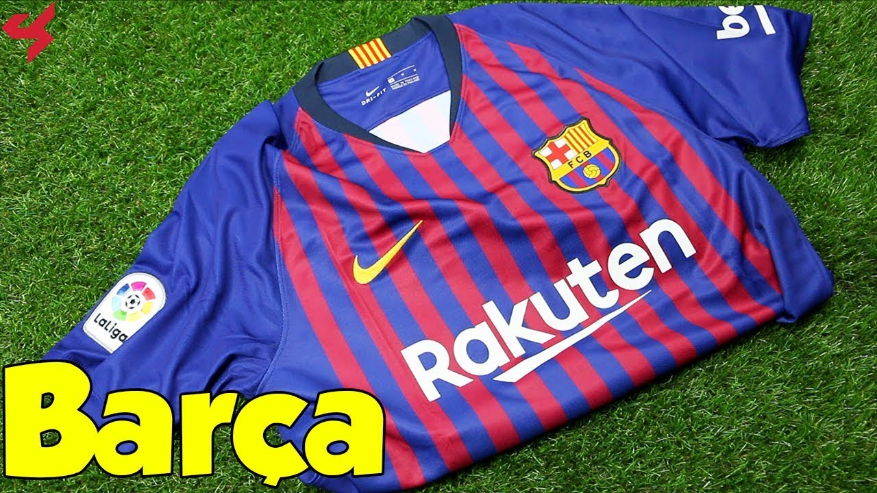 d1d625c8e77 Nike FC Barcelona Messi 2018 19 Home Soccer Jersey Unboxing + Review ...