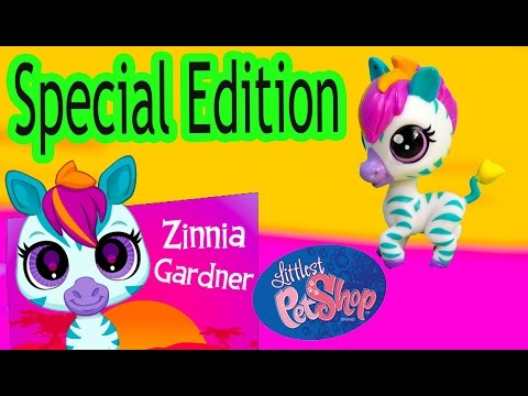 LPS Limited Special Edition Zinnia Gardner Zebra Mail Bobbleheads Littlest Pet Shop Toy Unboxing