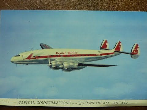 1950's Capital Airlines promo film, Lockheed Constellation and Douglas DC-4 aircraft