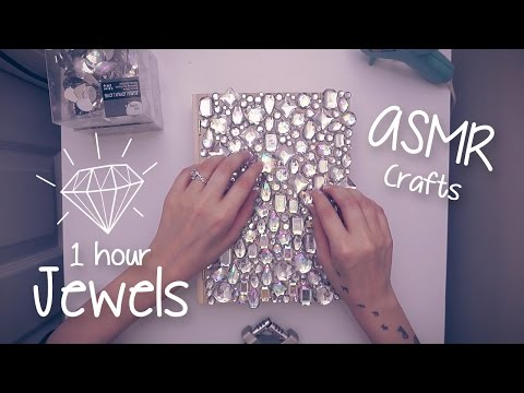 1 Hour of Crafting with Plastic Jewels! Shiny, Tappy, Clinky ASMR