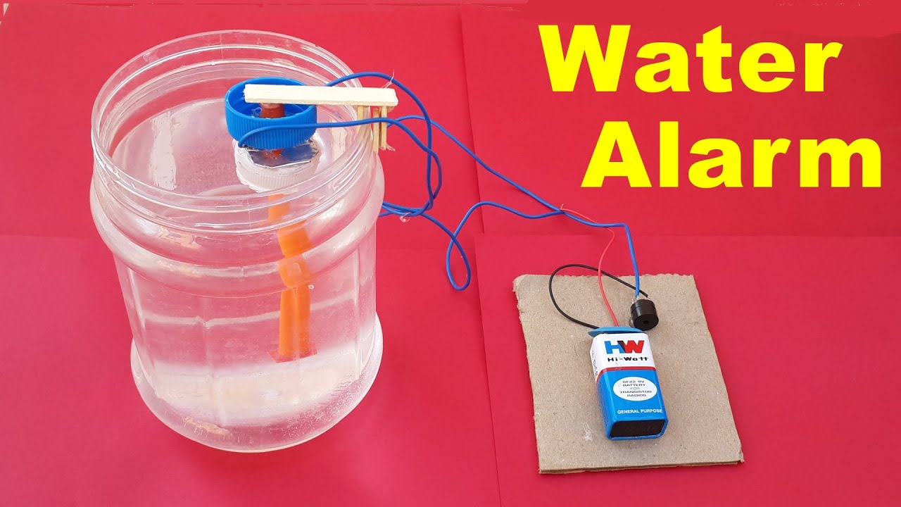 water level indicator project with circuit diagram phone plug wiring how to make a simple alarm at home