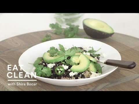 Vegetarian Black Beans with Rice and Avocado Eat Clean with Shira Bocar