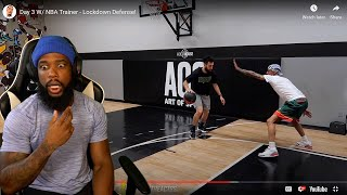 OK Now I'm SHOCKED! Day 3 w/NBA Trainer- Lockdown Defense!