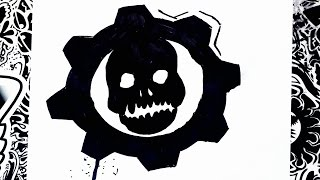 Como dibujar el logo de gears of war | how to draw gears of war