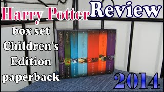 Harry Potter - Children's Edition paperback Box Set - Review - Bloomsbury 2014