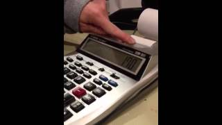 How to use an adding machine