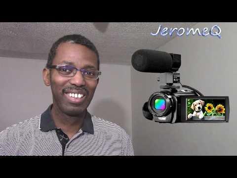 Aasonida Full HD 1080P Digital Video Camera Webcam Vlogging Camcorder Review
