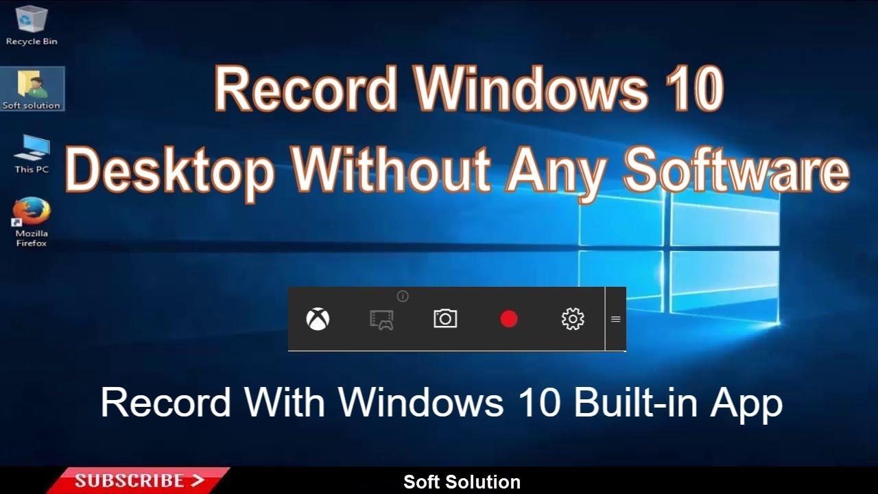 Win 10 Screen Recorder
