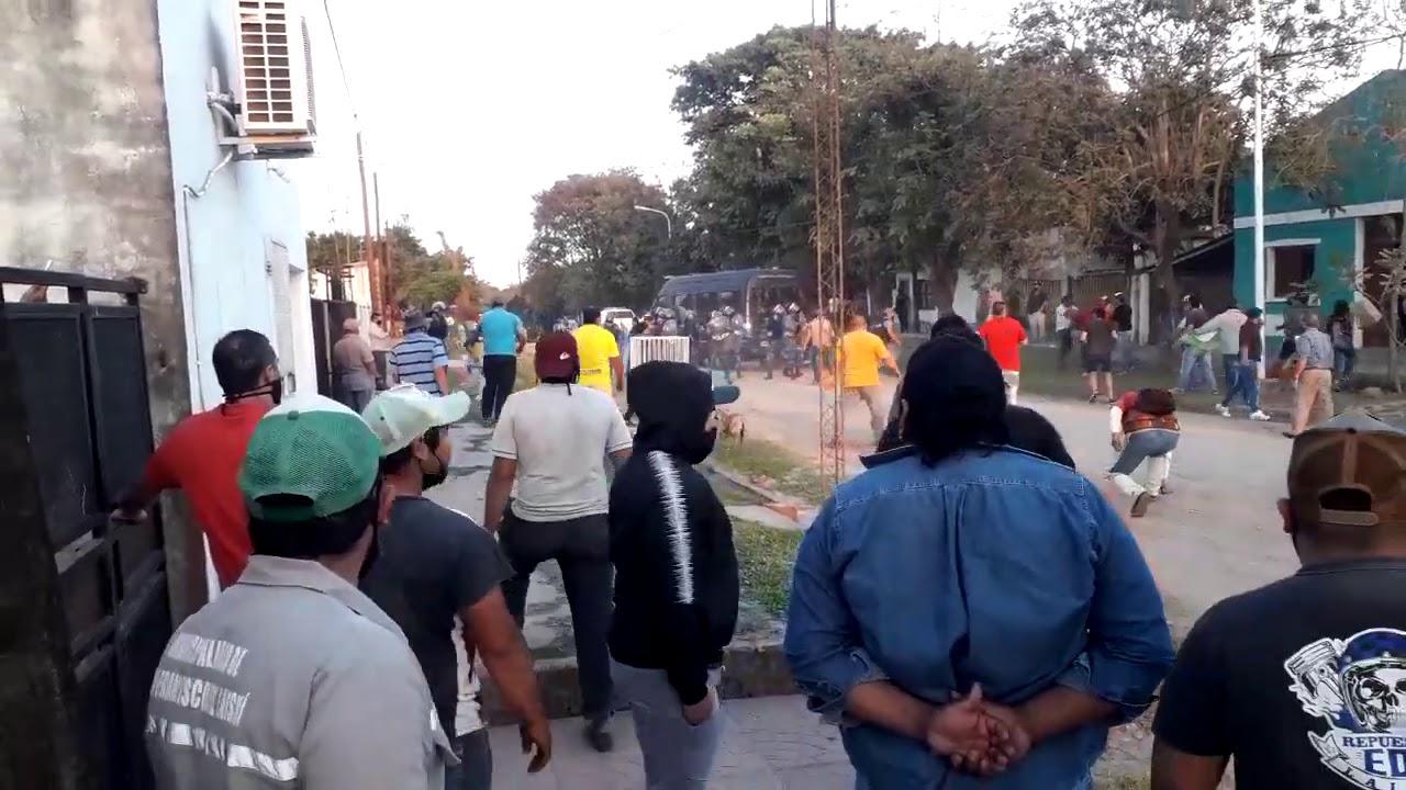 Protesta violenta en Mision Laishi