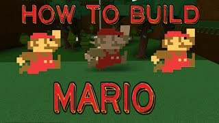 How to make mario in build a boat roblox