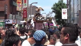三社祭2016 本社神輿一之宮渡御【浅草公園】