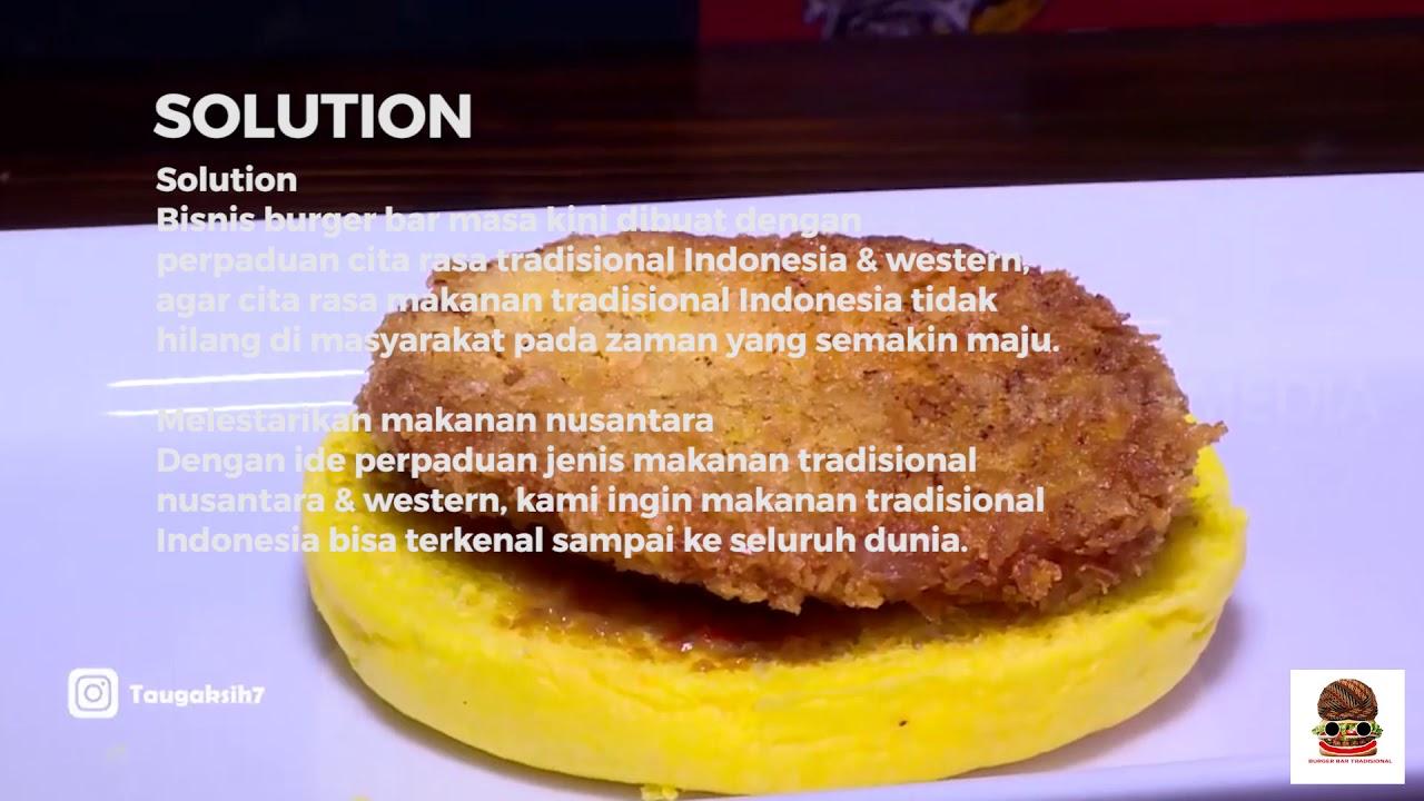Tugas Kewirusahaan Burger Bar Tradisional Universitas
