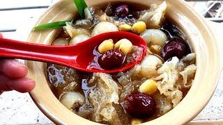 Cách Làm Món Chè Nấm Tuyết Hạt Sen Táo Đỏ Bổ Dưỡng,Giải Nhiệt Ngày Hè| Góc Bếp Nhỏ