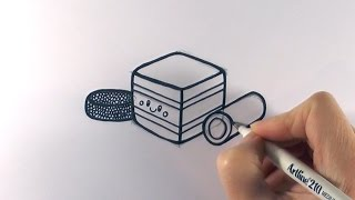 How to Draw Cartoon Licorice Allsorts