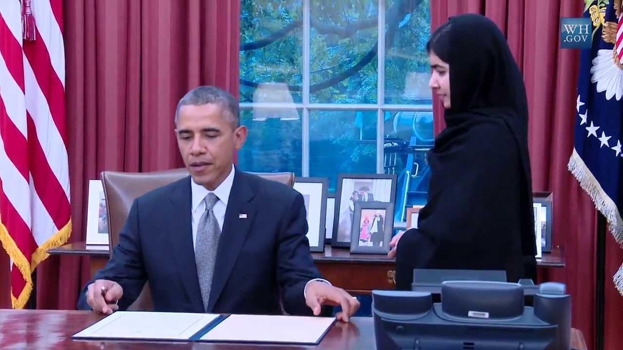 Obama Meets Malala Yousafzai Youtube