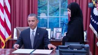Obama Meets Malala Yousafzai