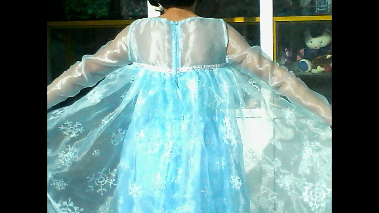 Como hacer el vestido de Elsa de Frozen , parte 2. - YouTube