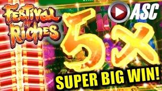 ★ SUPER BIG WIN! ★ FESTIVAL OF RICHES | FIRECRACKER FEATURE! Slot Machine Bonus (Konami)