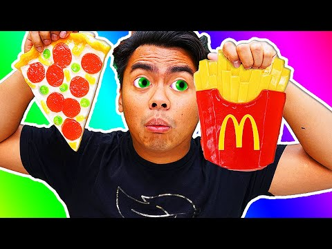 GUMMY FOOD VS REAL FOOD 11!