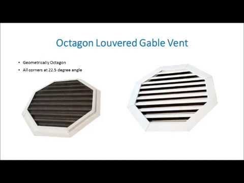 Louvered Gable Vent