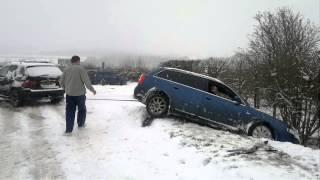 audi 1 8t quattro crash on edge hill january 2013 uk