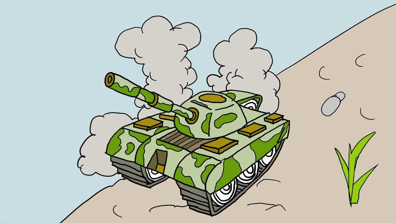 Cách vẽ xe tăng quân đội mơ ước của em đơn giản – how to draw tank