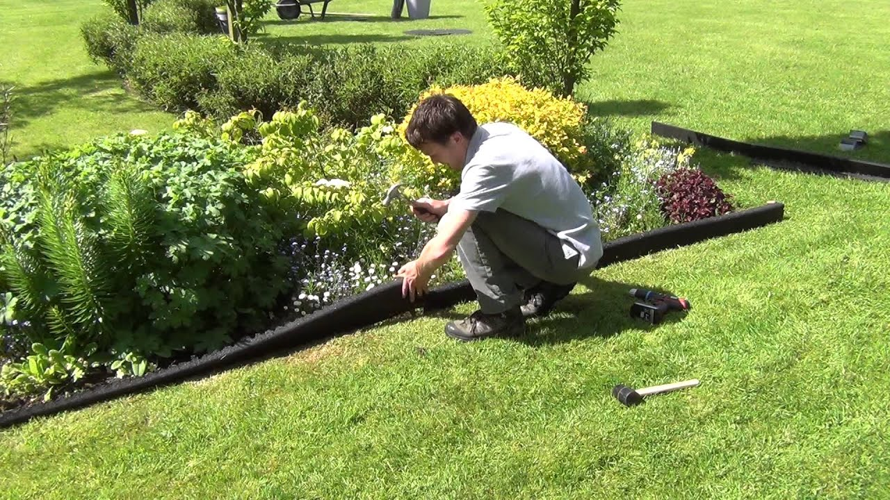 How to Install Crumb Rubber Garden Edging