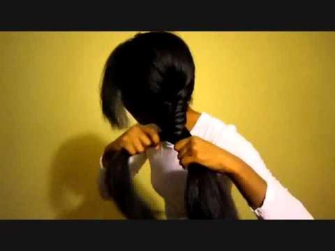 Fishbone Fishtail Braid On African American Natural Hair