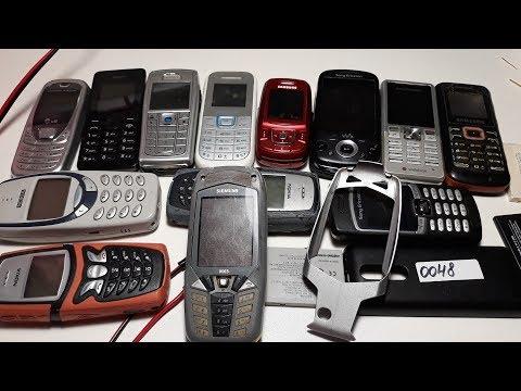 Проверка ретро телефонов из Германии Nokia 345, NOKIA 5210,  Sony Ericsson W20i, Sony Ericsson T250I