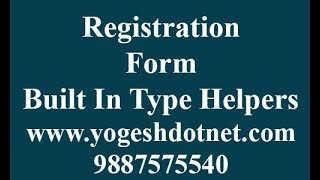 Built In Type HTML Helpers Advanced Level   Hindi