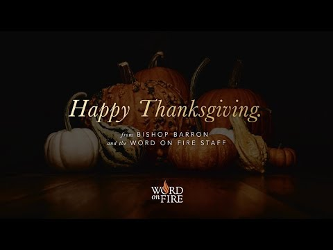 Happy Thanksgiving from Bishop Barron!