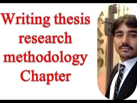 Writing methodology chapter dissertation