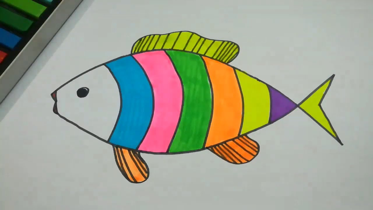 Draw And Color Fish Step By Step L Drawing Easy Youtube