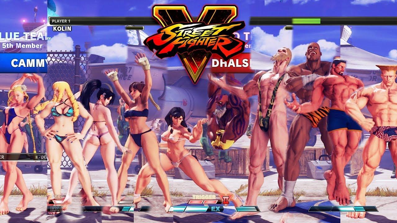Street Fighter V AE Chun Li/Sakura/Ibuki/Kolin/Cammy vs Dhalsim/G/Sagat/M.Bison/Guile PC Mod