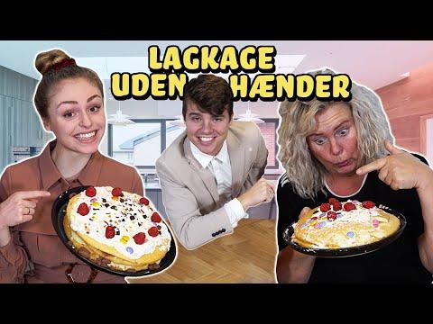 Hvem kan lave den bedste lagkage uden hænder?! Mor vs Datter