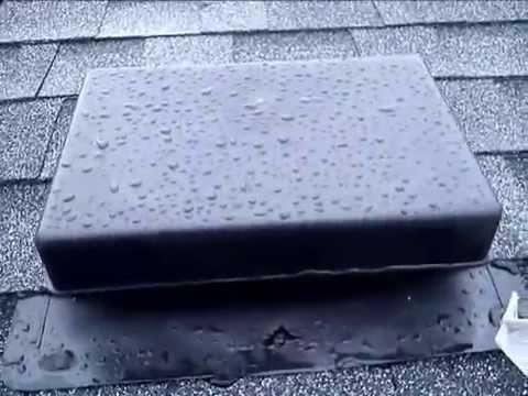 Leaking roof vents repair youtube - Roof air vent leaking water ...
