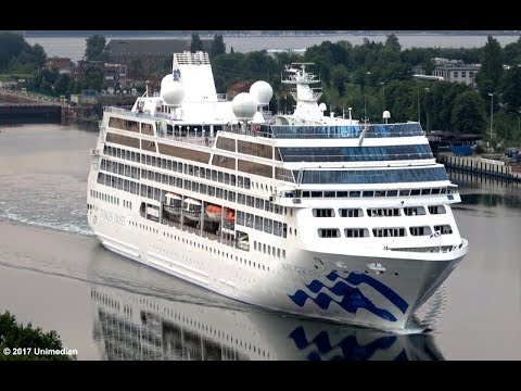 PACIFIC PRINCESS | spectacular amazing aerial views at Kiel Canal | 4K-Quality-Video
