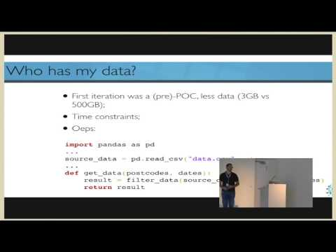 Giovanni Lanzani - Python and pandas as back end to real-time data driven applications