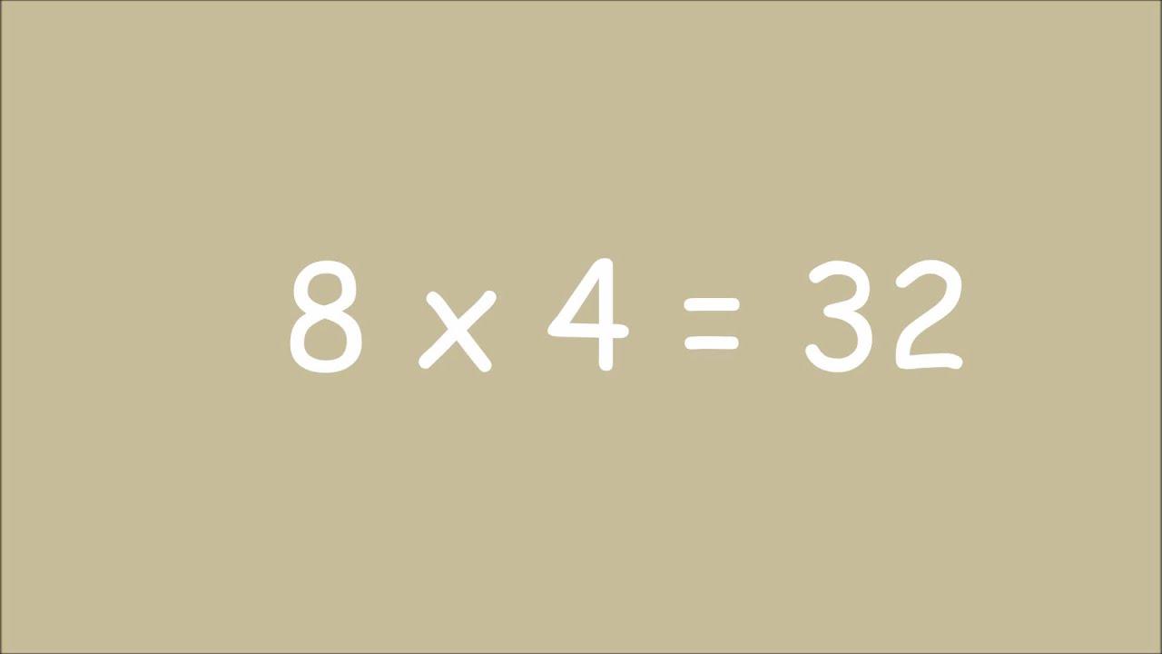 Table De Multiplication De 8 Exercices Youtube
