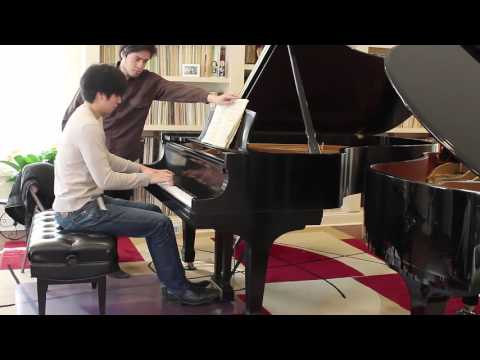Christopher and Michelle Kuo, shown playing here, will be among the pianists performing on May 22.