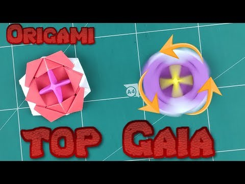 How to Make a Paper Spinner Battle Blade Tutorial | Origami Top Gaia Toy Paper l DIY Paper Spinning