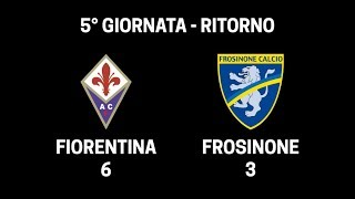 Fiorentina - Frosinone 6-3 - Serie A Fair Play FreeCom ADSL