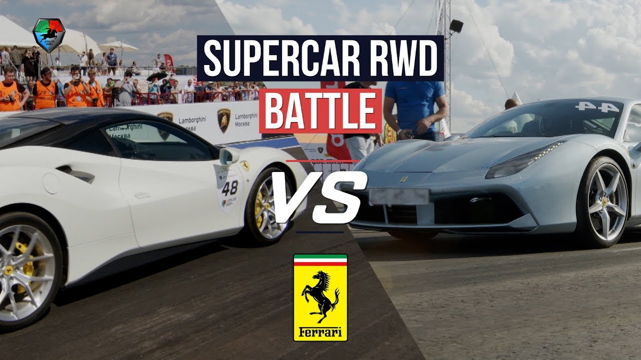 Ferrari 488 GTB battle + vs 800hp Huracan, E63s AMG st 2., JEEP Trackhawk. Unlim highlights.