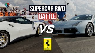 Ferrari 488 GTB battle + vs 800hp Huracan, E63s AMG st 2., JEEP Trackhawk. Unlim highlights.