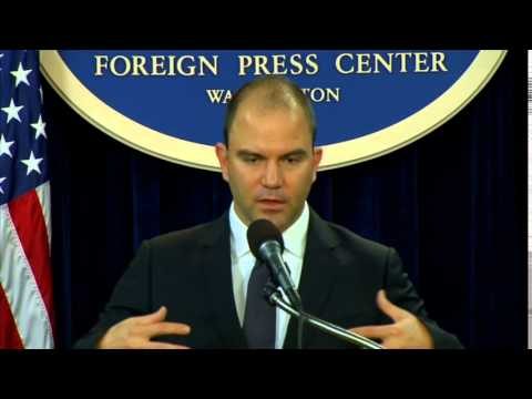 Deputy National Security Advisor Rhodes Previews President Obama